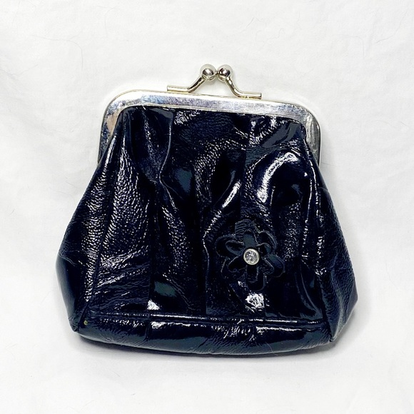 Miche Handbags - Black Miche Change-purse with Flower and Accents